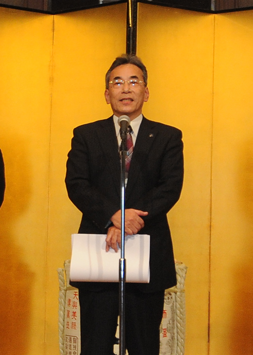 表彰者代表の挨拶